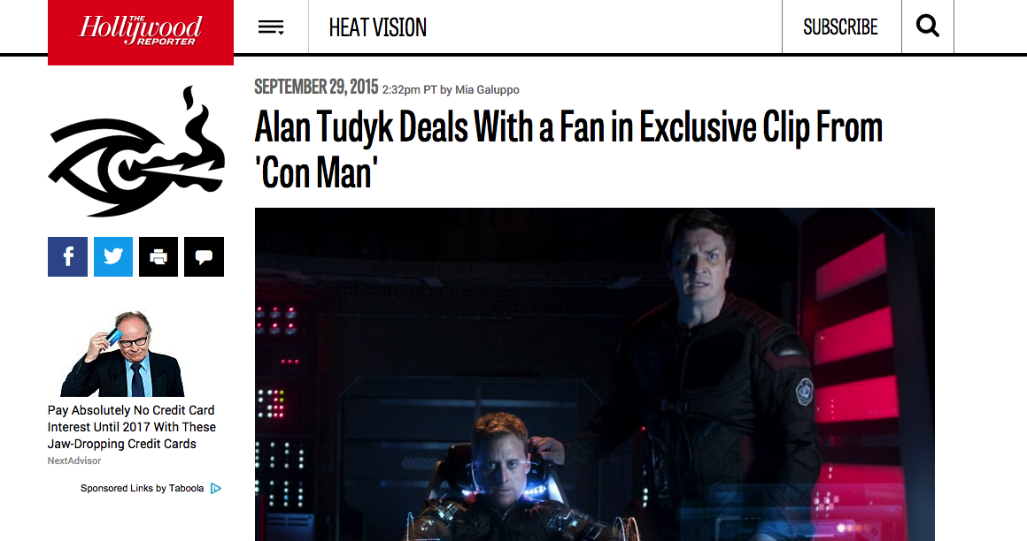 THR - Alan Tudyk Deals With a Fan in Exclusive Clip From 'Con Man'