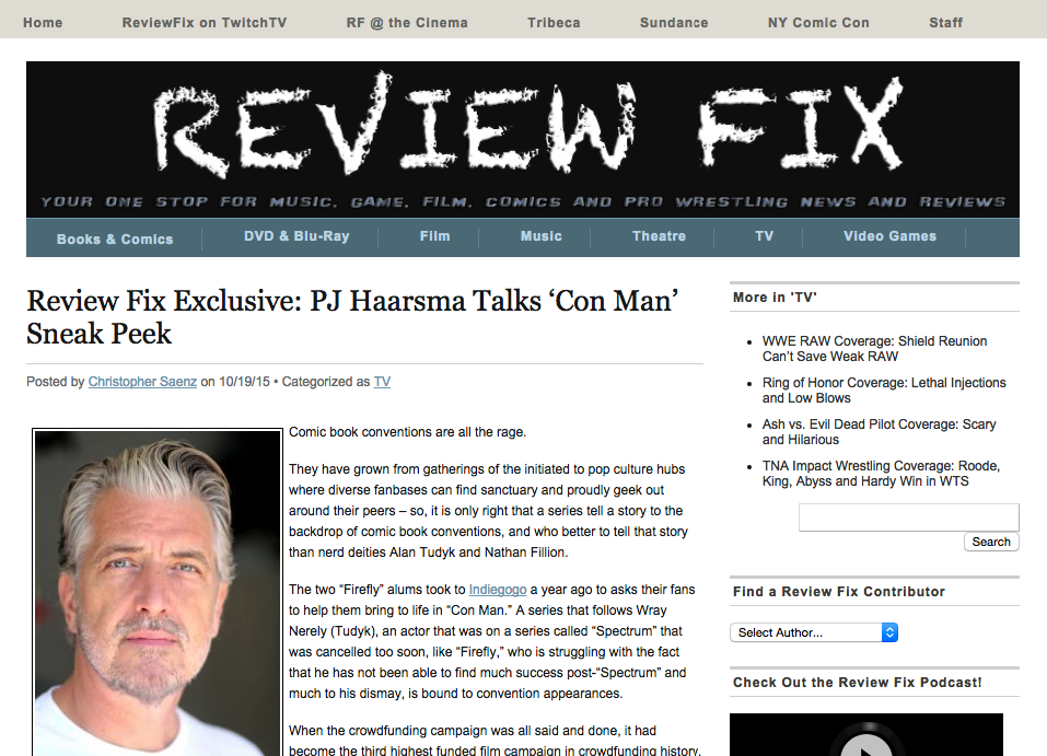 Review Fix Exclusive: PJ Haarsma Talks 'Con Man' Sneak Peek