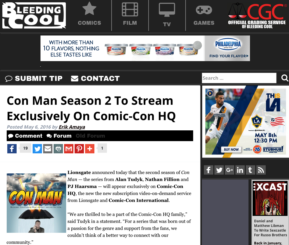 Bleeding Cool - Con Man Season 2 To Stream Exclusively On Comic-Con HQ